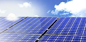 Solar energy from the sun